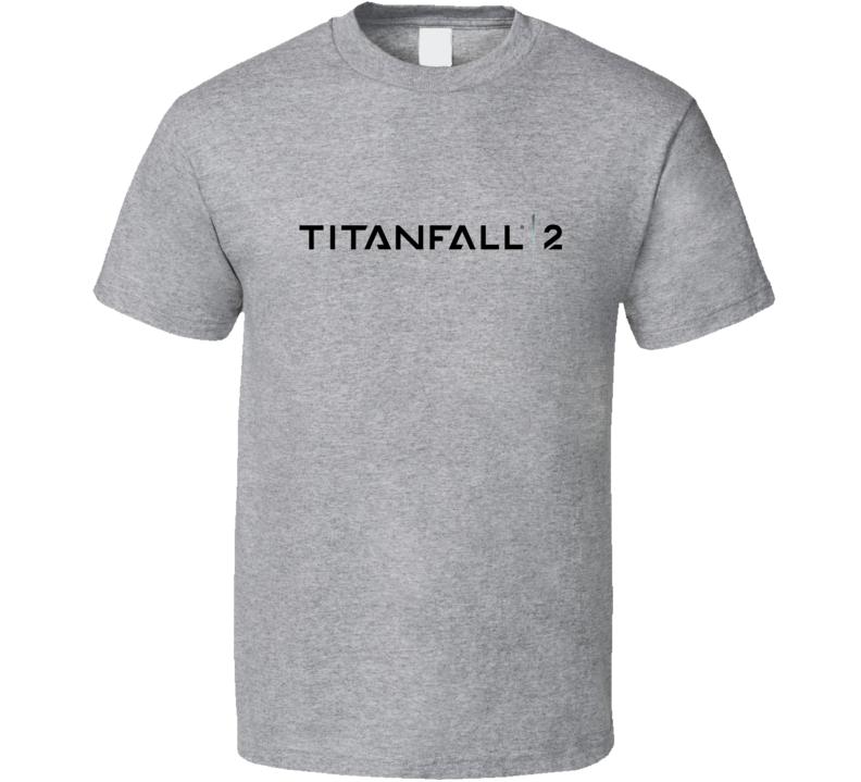 Titanfall 2 Video Game Black Logo T Shirt