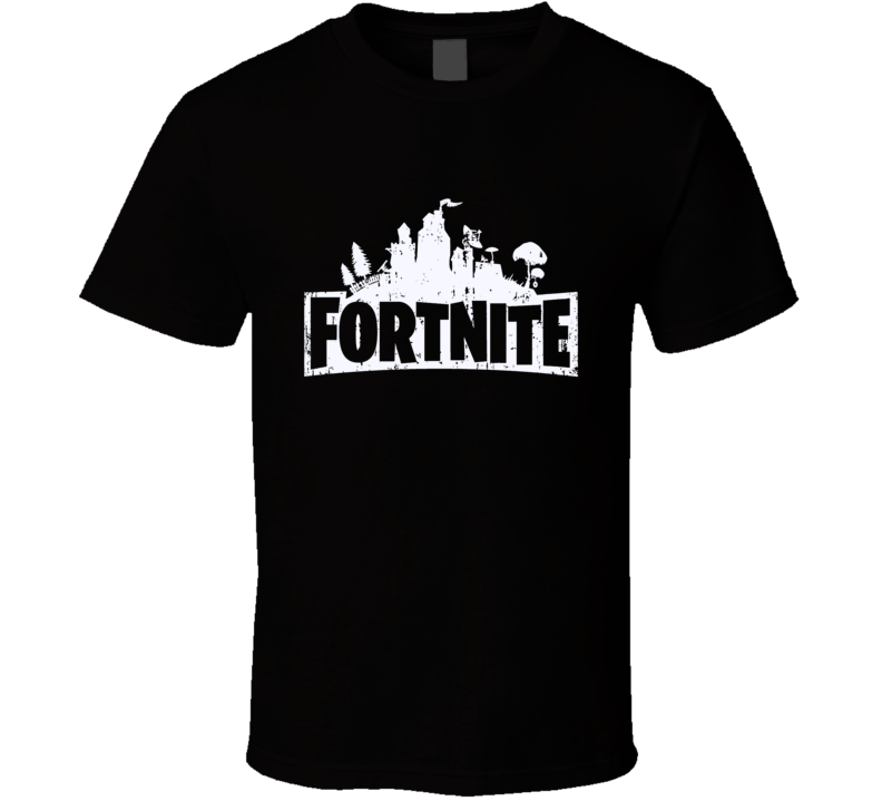 Fortnite Video Game Silver Logo Online Shooter T Shirt