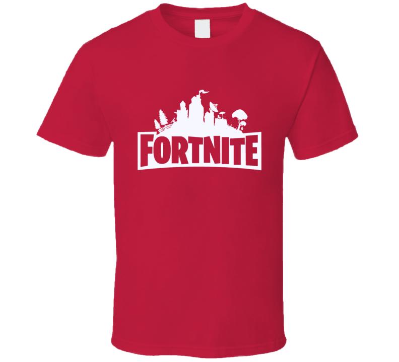 Fortnite Video Game White Logo Online Shooter T Shirt