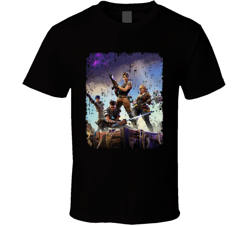 Fortnite Video Game Cover Art Online Shooter Distressed T Shirt