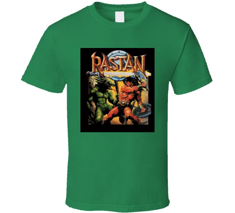 Rastan Retro Video Game Cover Art T Shirt