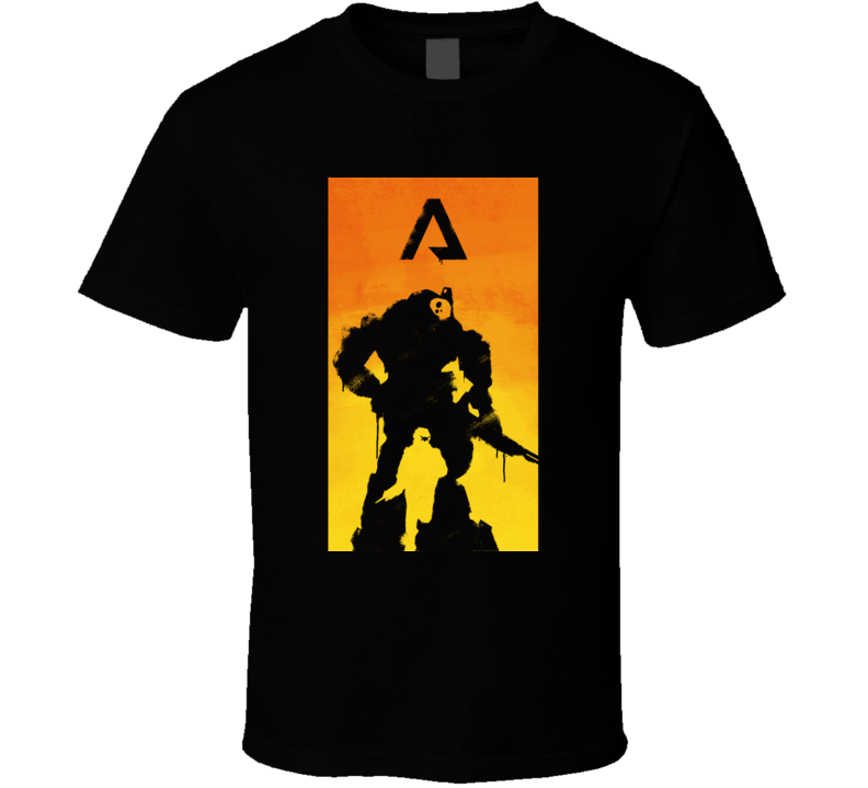 Titanfall 2 Titan Video Game Silhouette Black T Shirt