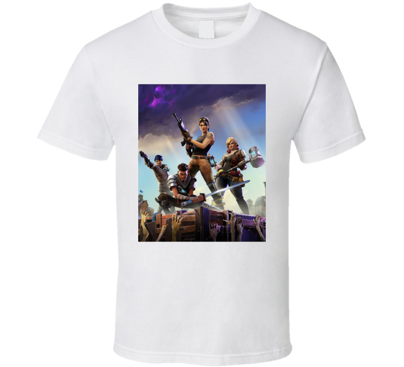 Fortnite Video Game Cover Art Online Shooter T Shirt