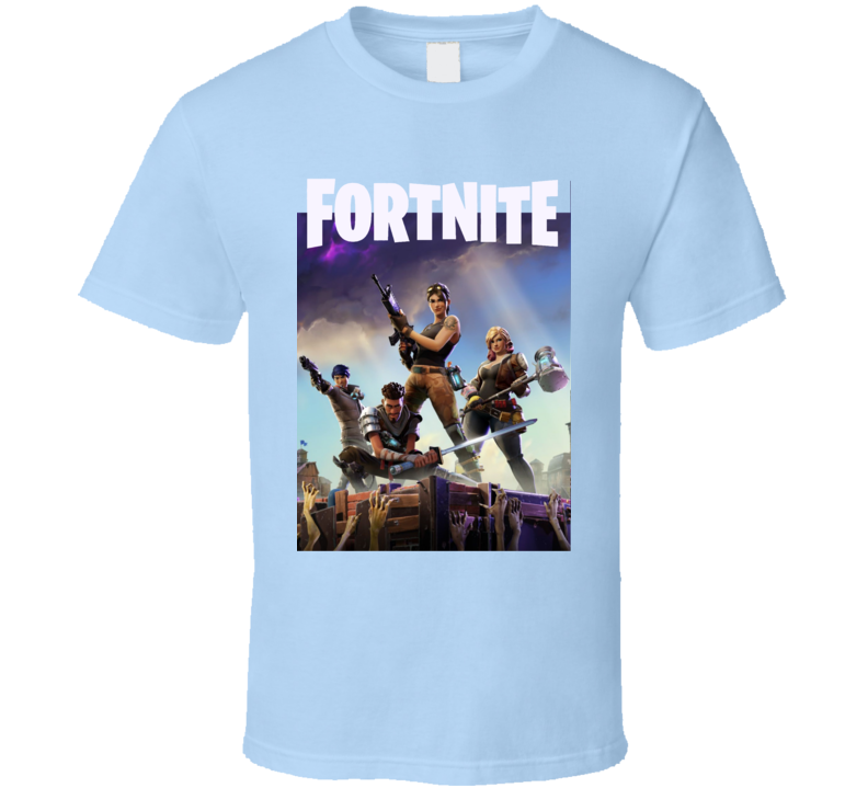 Fortnite Video Game Cover Art Logo Online Shooter T Shirt