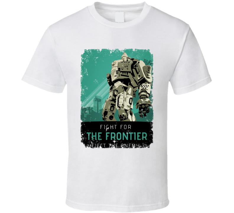 Titanfall 2 Video Game Fight Frontier Propaganda Poster Aged T Shirt