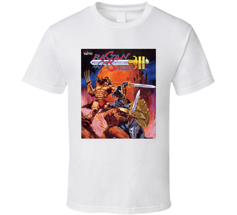 Rastan Saga 2 Nastar Retro Video Game Cover Art T Shirt