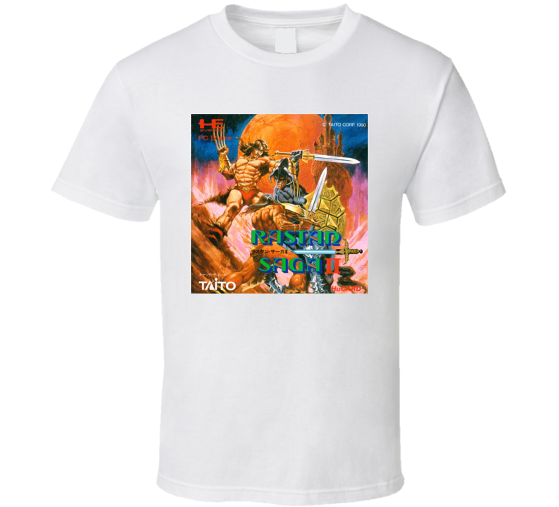 Rastan Saga 2 Nastar Retro Classic Video Game Cover Art T Shirt