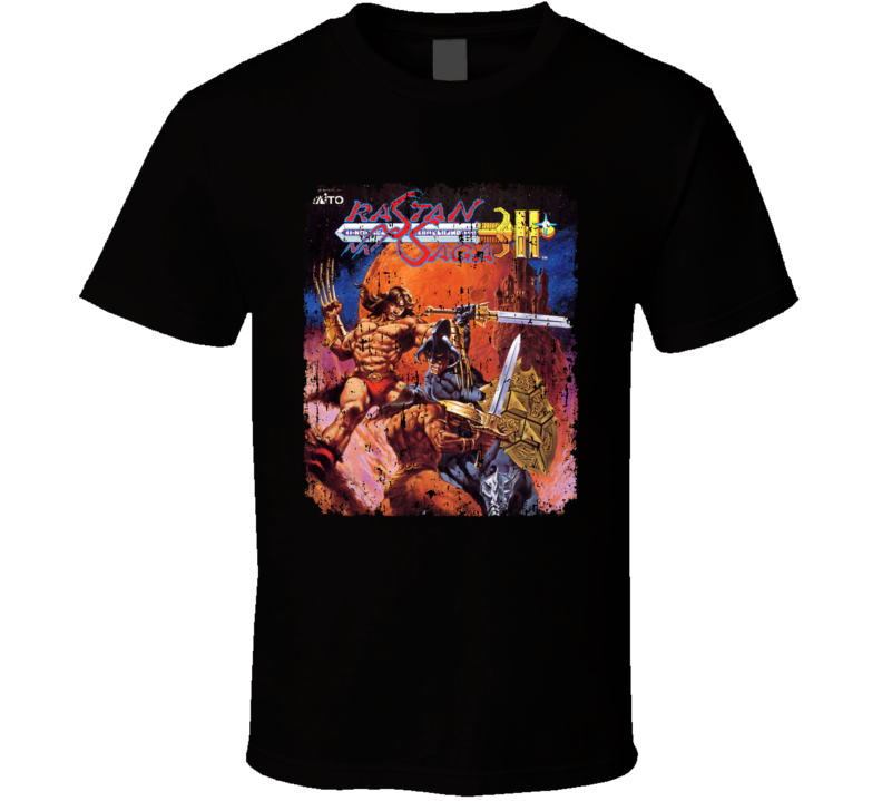 Rastan Saga 2 Nastar Retro Video Game Cover Art Distressed T Shirt