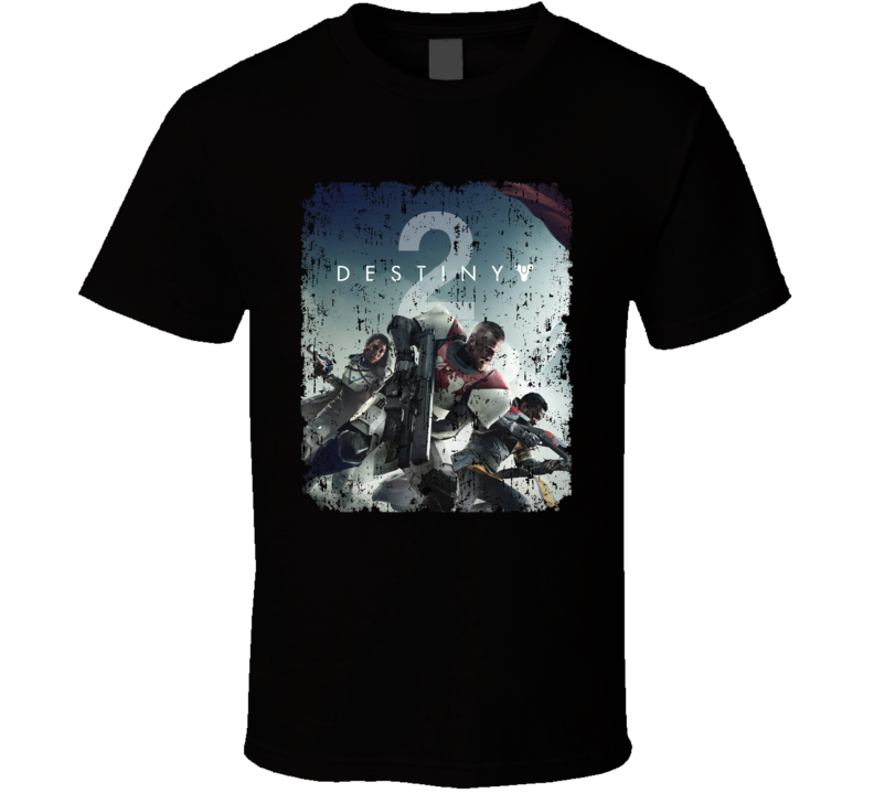 Destiny 2 Video Game Shooter Cover Aged T Shirt