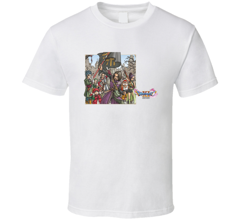 Dragon Quest Xi 11 Video Game Rpg Characters White T Shirt