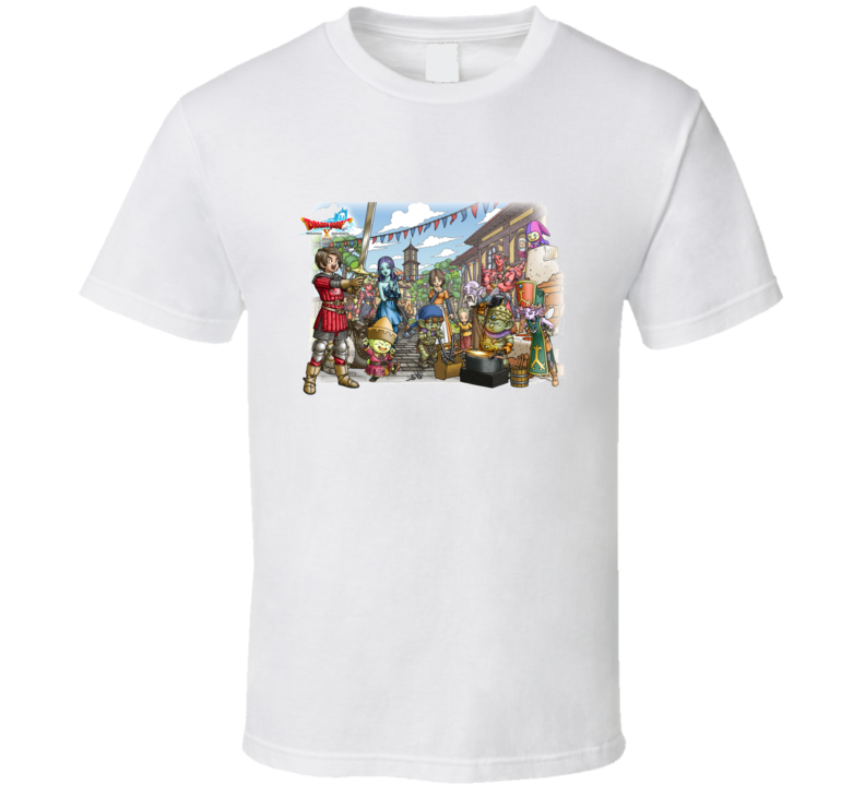 Dragon Quest X 10 Video Game Rpg Characters White T Shirt