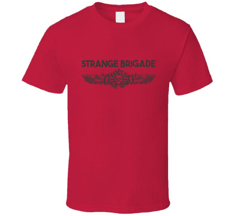 Strange Brigade Video Game Shooter Dark Grey Logo T Shirt