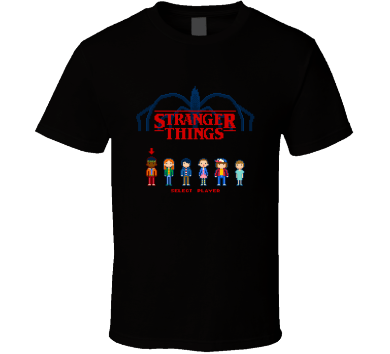 Stranger Things Retro Video Game Pixel Cult Tv Show T Shirt