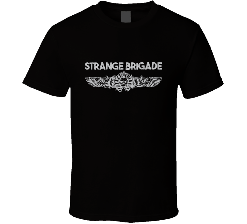 Strange Brigade Video Game Shooter Silver Logo T Shirt