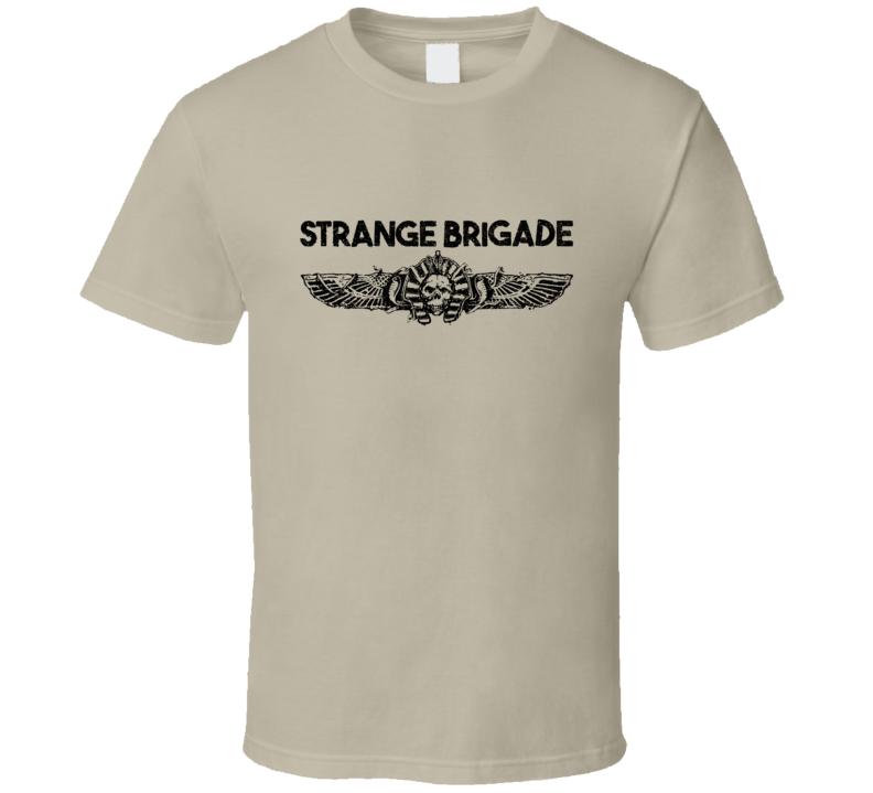 Strange Brigade Video Game Shooter Black Logo T Shirt