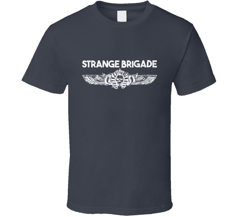 Strange Brigade Video Game Shooter White Logo T Shirt