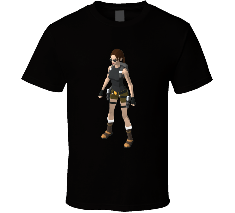 Tomb Raider Cult Video Game Original Lara Croft T Shirt