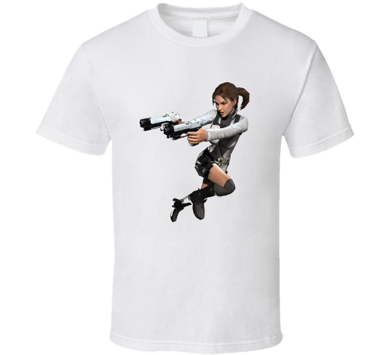 Lara Croft Tomb Raider Video Game Series Action T Shirt
