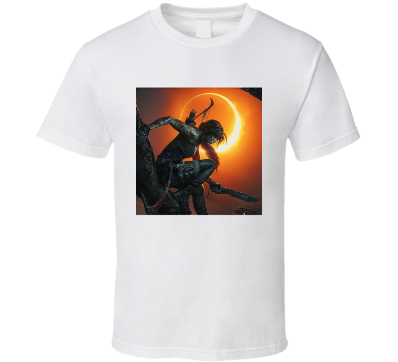 Shadow Of The Tomb Raider Video Game Lara Croft Cover T Shirt