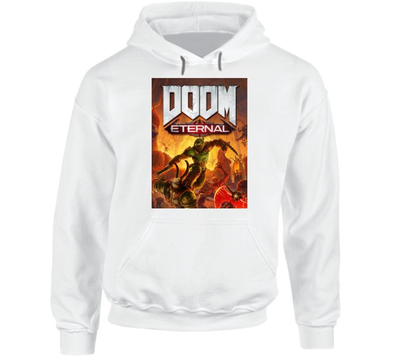 Doom Eternal Video Game Cover Shooter Demons Hoodie