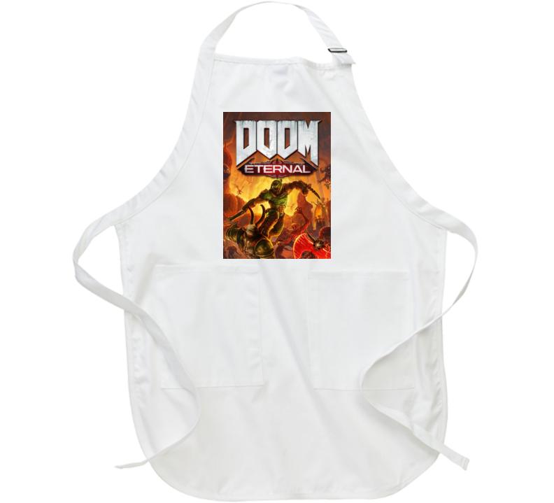 Doom Eternal Video Game Cover Shooter Demons Apron