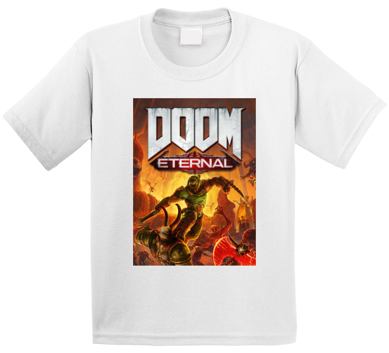 Doom Eternal Video Game Cover Shooter Demons T Shirt