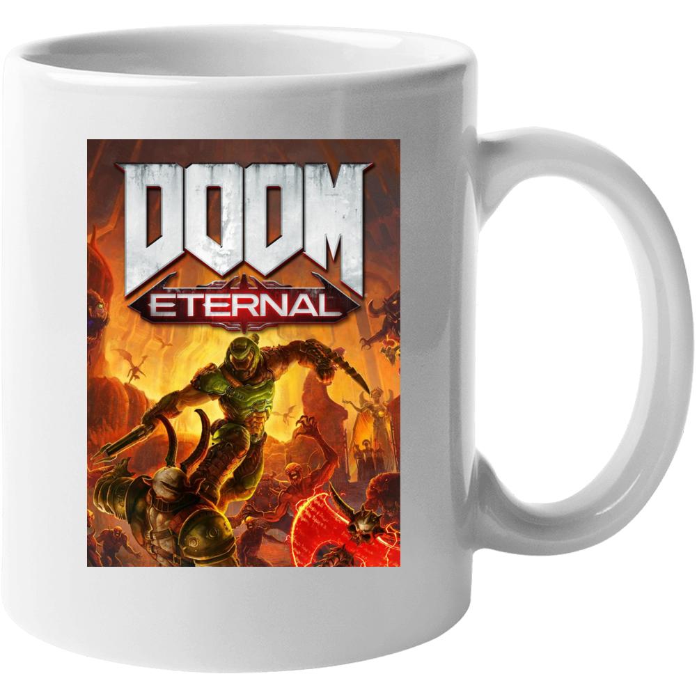 Doom Eternal Video Game Cover Shooter Demons Mug