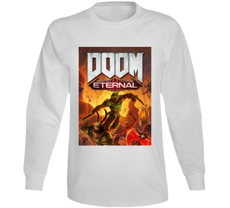 Doom Eternal Video Game Cover Shooter Demons Long Sleeve