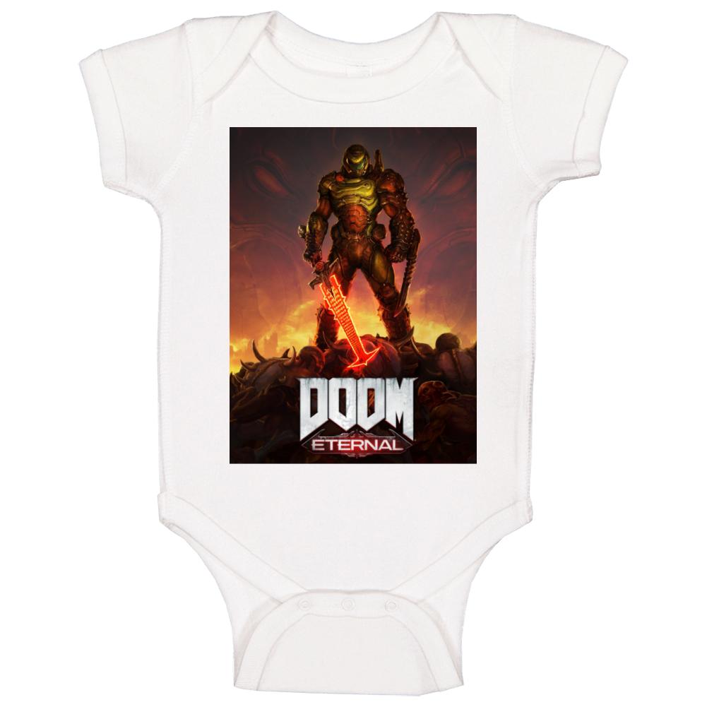 Doom Eternal Video Game Cover Art Demons Baby One Piece
