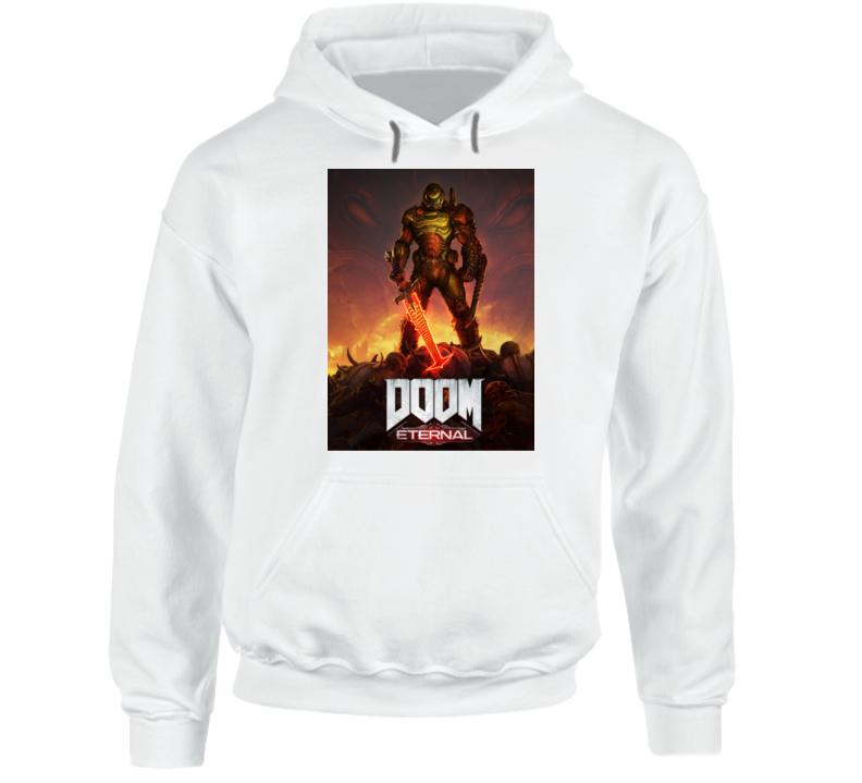 Doom Eternal Video Game Cover Art Demons Hoodie