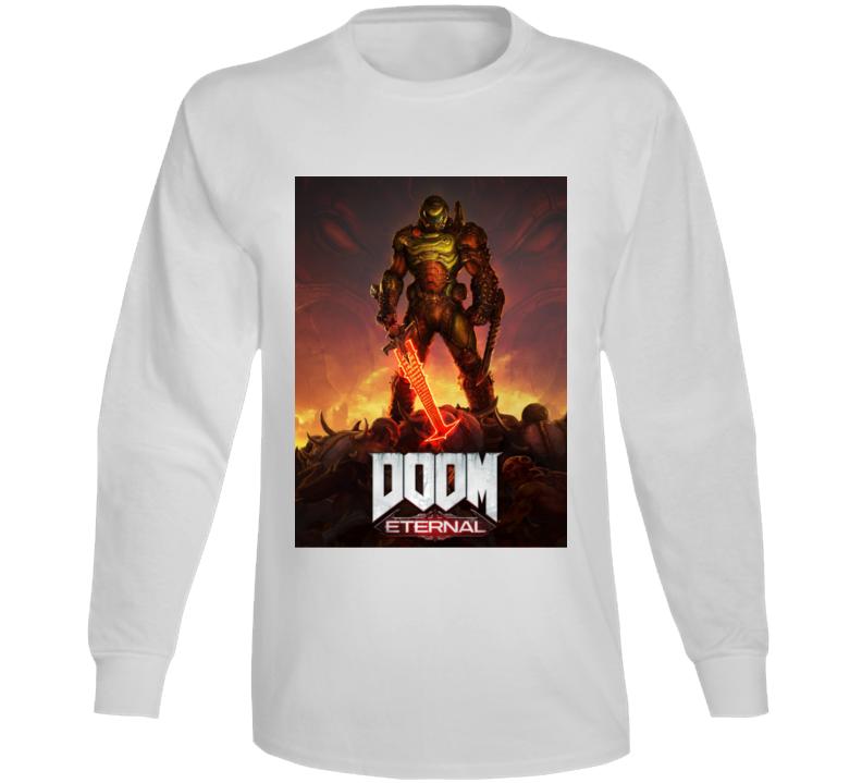 Doom Eternal Video Game Cover Art Demons Long Sleeve