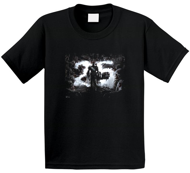 Doom Eternal Video Game Cover Art Demons Black T Shirt