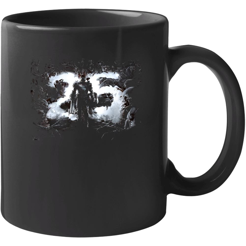 Doom Eternal Video Game Cover Art Demons Black Mug