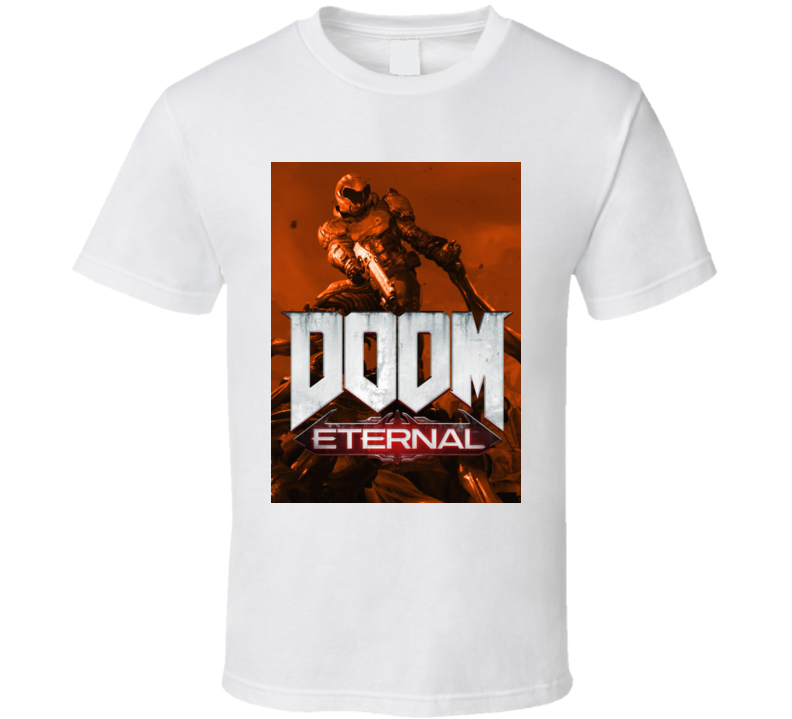 Doom Eternal Video Game Sepia Cover Art Demons T Shirt