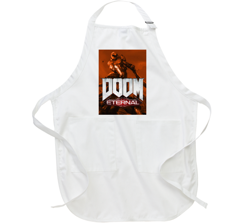 Doom Eternal Video Game Sepia Cover Art Demons Apron