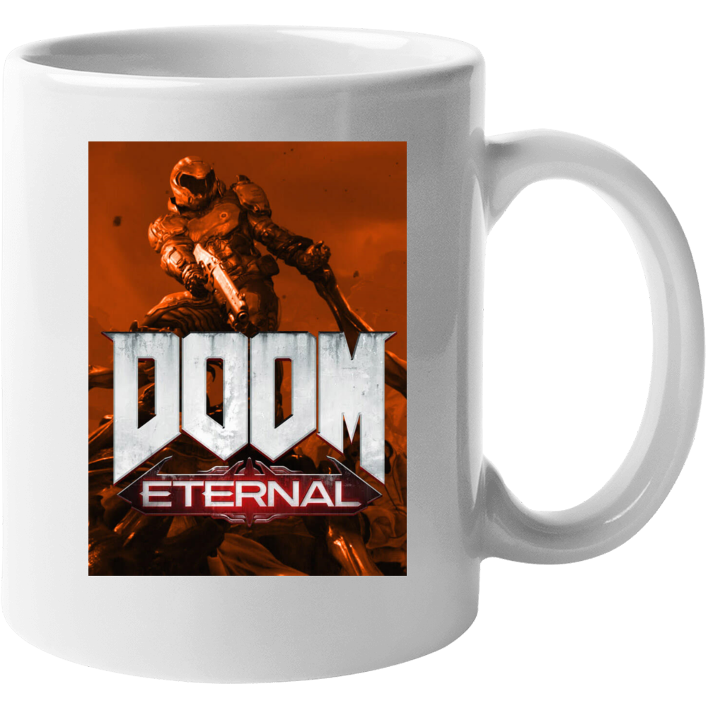 Doom Eternal Video Game Sepia Cover Art Demons Mug