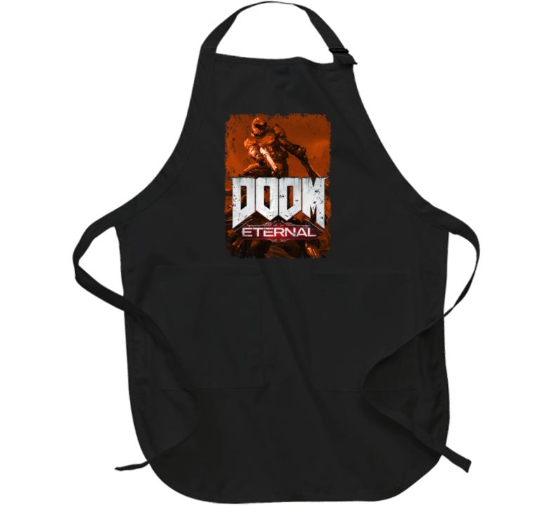 Doom Eternal Video Game Sepia Cover Art Demons Distressed Apron