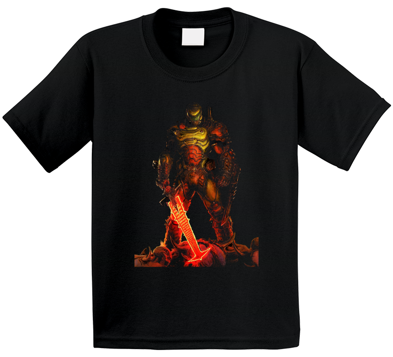 Doom Eternal Video Game Slayer Demons Black T Shirt