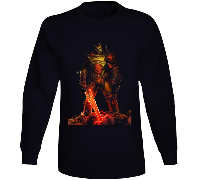 Doom Eternal Video Game Slayer Demons Black Long Sleeve