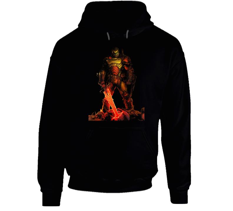 Doom Eternal Video Game Slayer Demons Black Hoodie