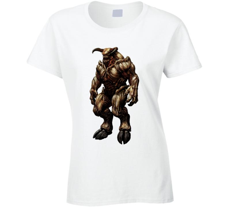 Doom Eternal Video Game Baron Of Hell Demons Ladies T Shirt