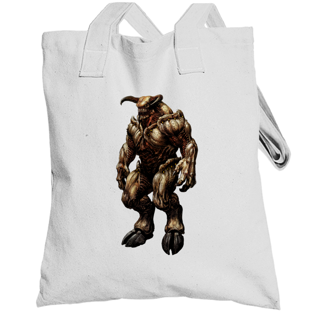 Doom Eternal Video Game Baron Of Hell Demons Totebag