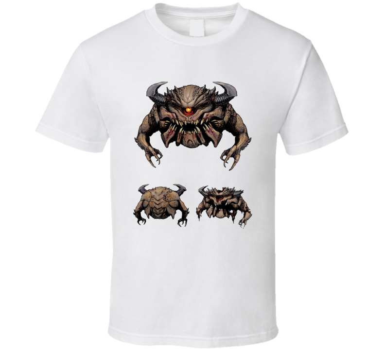Doom Eternal Video Game Pain Elemental Eye Demon T Shirt