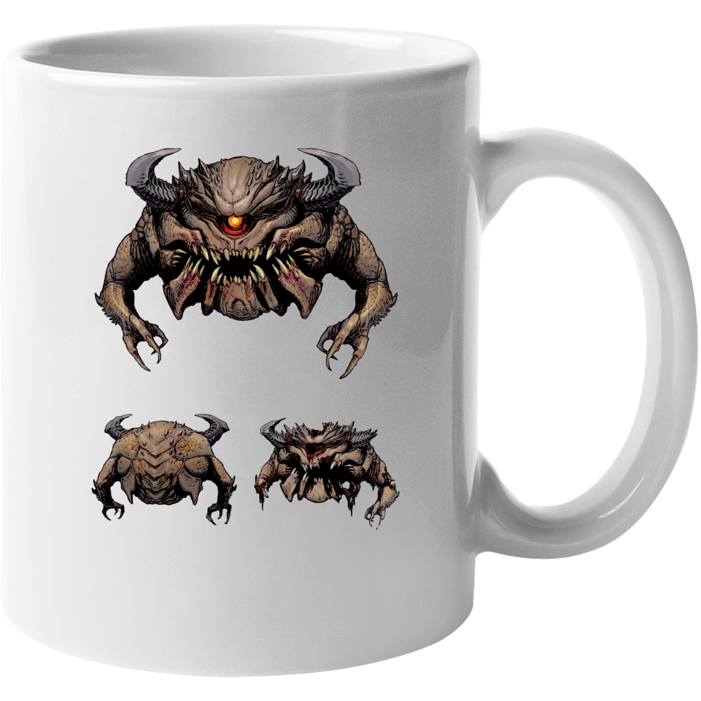 Doom Eternal Video Game Pain Elemental Eye Demon Mug