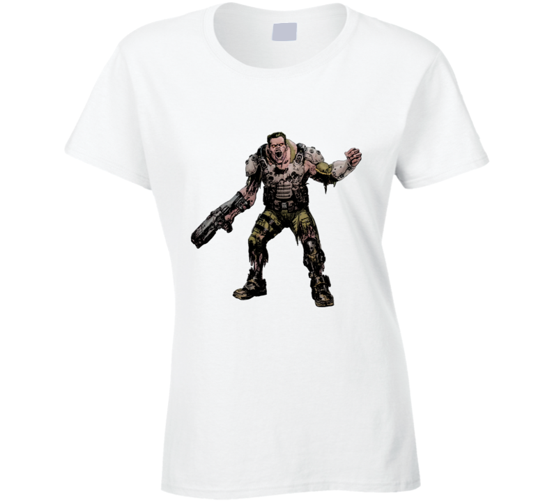 Doom Eternal Video Game Demon Soldier Zombie Ladies T Shirt