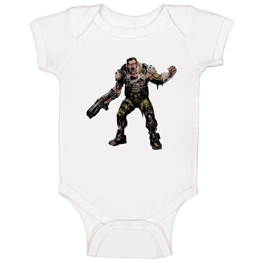 Doom Eternal Video Game Demon Soldier Zombie Baby One Piece