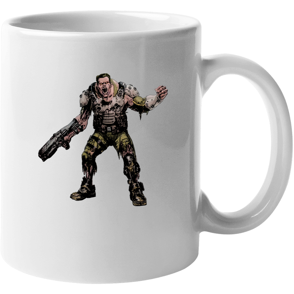 Doom Eternal Video Game Demon Soldier Zombie Mug