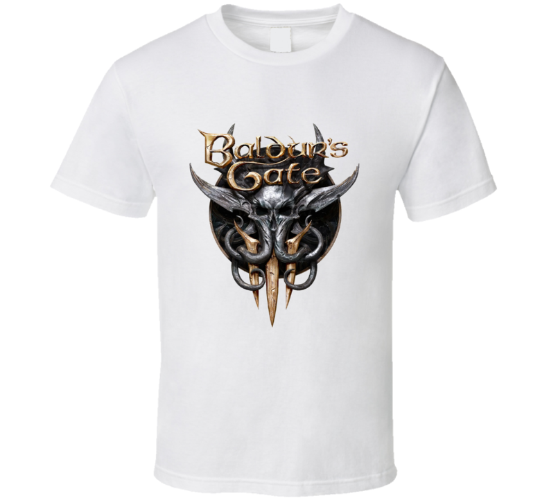 Baldurs Gate 3 Logo Rpg Video Game Dungeons Dragons T Shirt