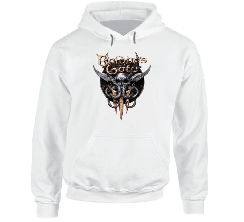 Baldurs Gate 3 Logo Rpg Video Game Dungeons Dragons Hoodie