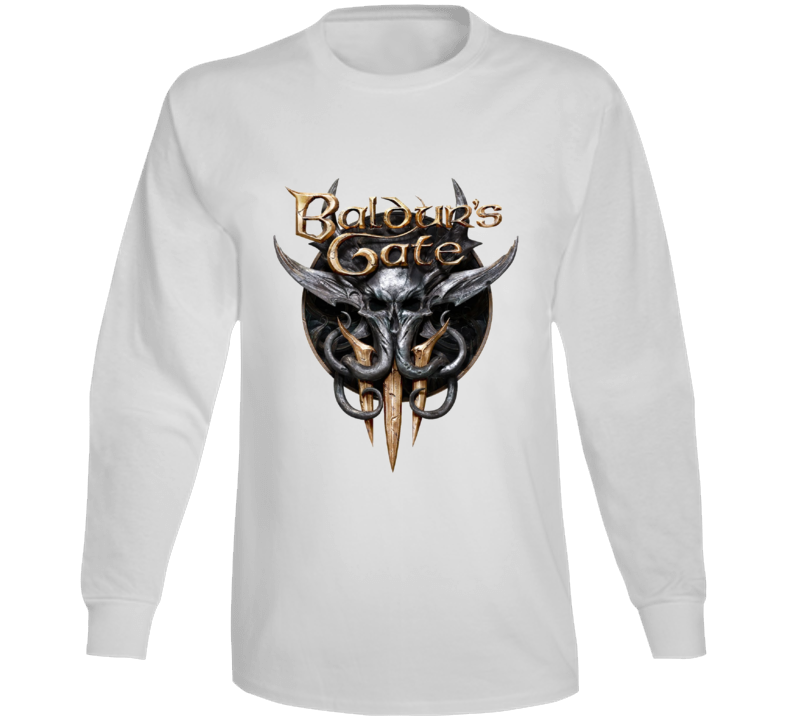 Baldurs Gate 3 Logo Rpg Video Game Dungeons Dragons Long Sleeve